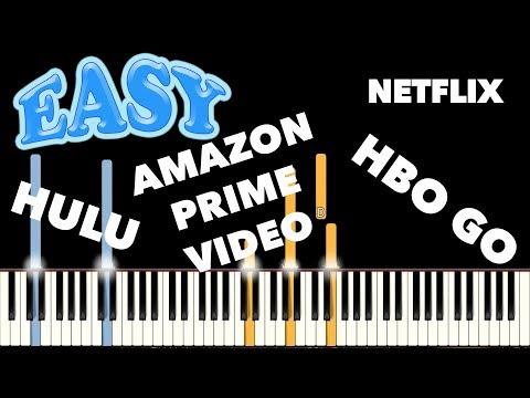 Streaming Video Logo Themes - Piano Tutorial