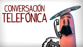 Telephone Conversation in Spanish. Video Spanish conversation