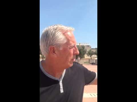 Mike Gorman roaming reporter - Barcelona Olympic complex