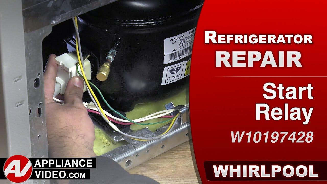 Whirlpool Refrigerator - Start Device Relay  U0026 Overload - Repair  U0026 Diagnostic