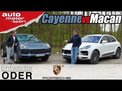 Porsche Cayenne Vs Macan - Vergleich/Review | Entweder ODER |  Auto Motor Und Sport