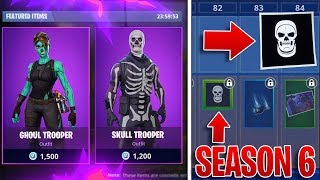 FORTNITE SEASON 6 LEAKED SKINS! - *NEW* Skull Trooper, Scarecrow, & MORE! (Fortnite Battle Royale)