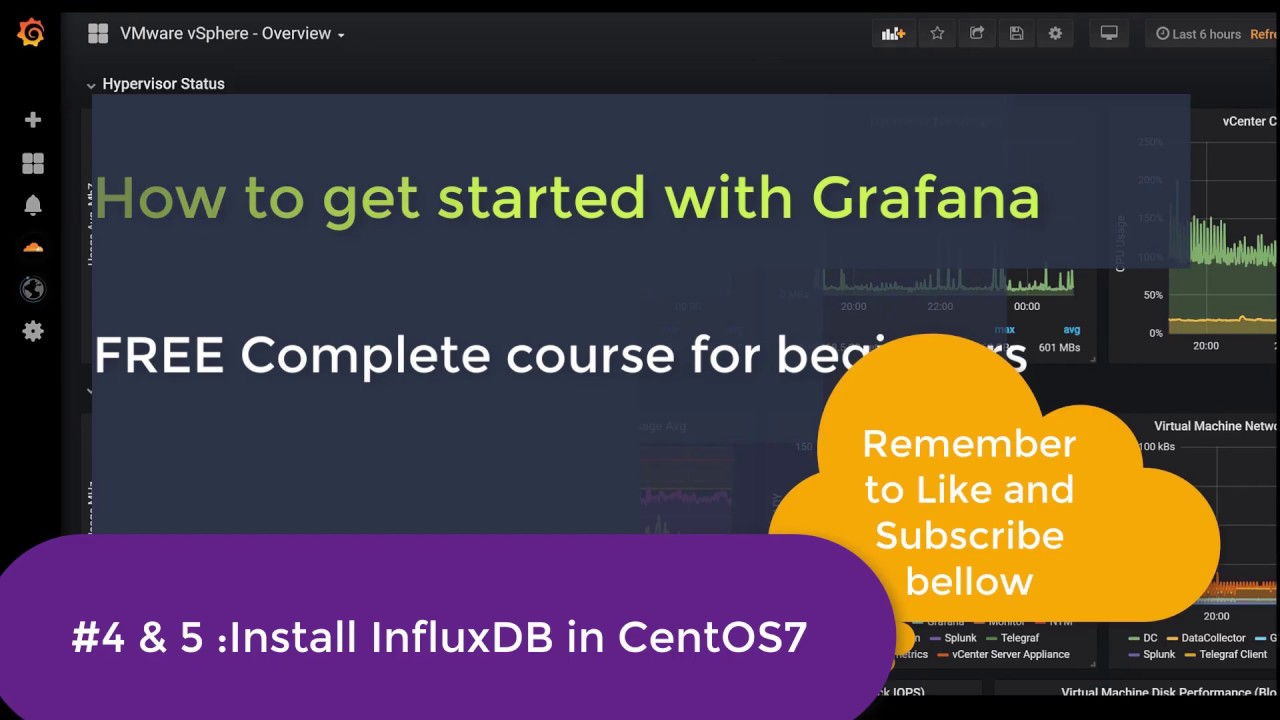#2 Grafana Monitoring | FREE Beginner course | Install InfluxDB in CentOS  7 X