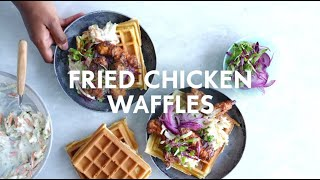 Fried chicken & waffles with amasi coleslaw | Food | Woolworths SA