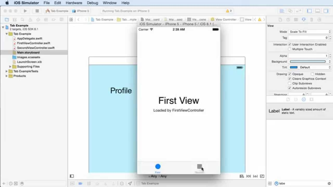 iOS Development with Swift Tutorial - 17 - Multiple Views or Screens