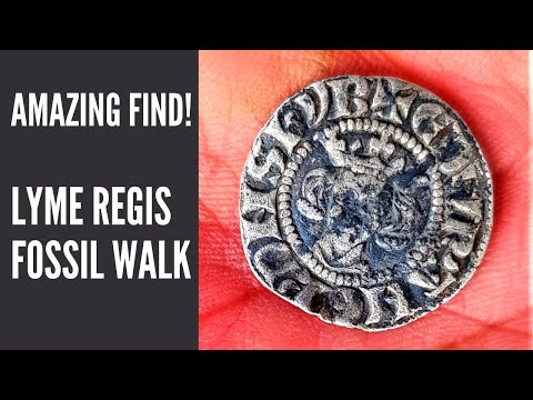 Lyme Regis Fossil Walk Medieval Coin - AMAZING FIND!