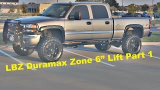 "Project Maxxed out Part 1- Installing a Zone 6"" Lift on a 2006 GMC sierra 2500 Duramax"