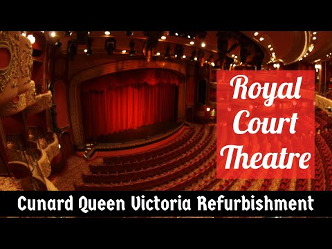 Queen Victoria Refit 2017 - Royal Court Theatre 'Secret' Stairways