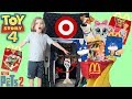Anything You Can Fit In The Cart I'll Buy || Toy Story 4 McDonalds Happy Meal Pretend Play