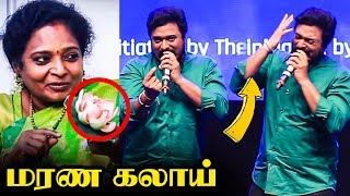 KPY Naveen Imitates Tamilisai | Ultimate Mimicry Performance | Vijay TV | Rhapsody Event