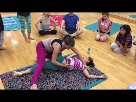 ayurveda yoga thai massage twist  back stretch  youtube