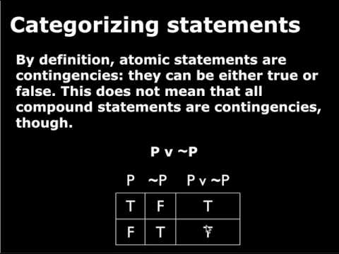 Section 2.6 - Tautologies, Contingencies and Contradictions