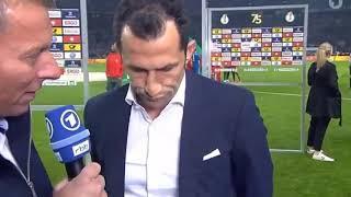 Hassan Salihamidzic stinksauer über nicht gegebeben Elfer nach Pokalfinale 2018 Bayern 1-3 SGE