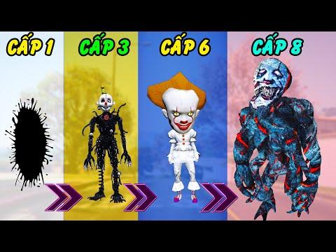 GTA 5 - Tôi là Hề ma quái Pennywise tiến hóa từ chất nhày đen thành Quái quỷ IT siêu to ghê rợn