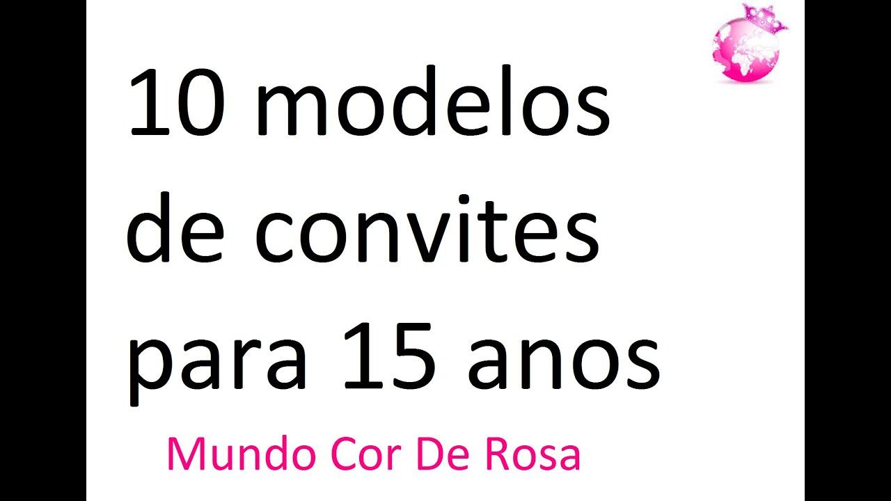 Convite De Aniversario Evangelica Para 15 Anos: 10 Modelos De Convites Para 15 Anos-Mundo Cor De Rosa