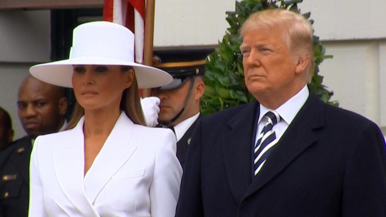 Barron Trump dons same outfit as Melania while attending ...