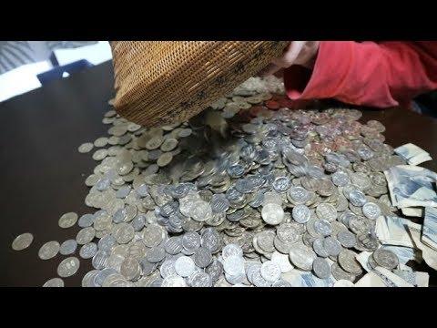 金欠の為500円玉貯金を開封したらとんでもない金額だった