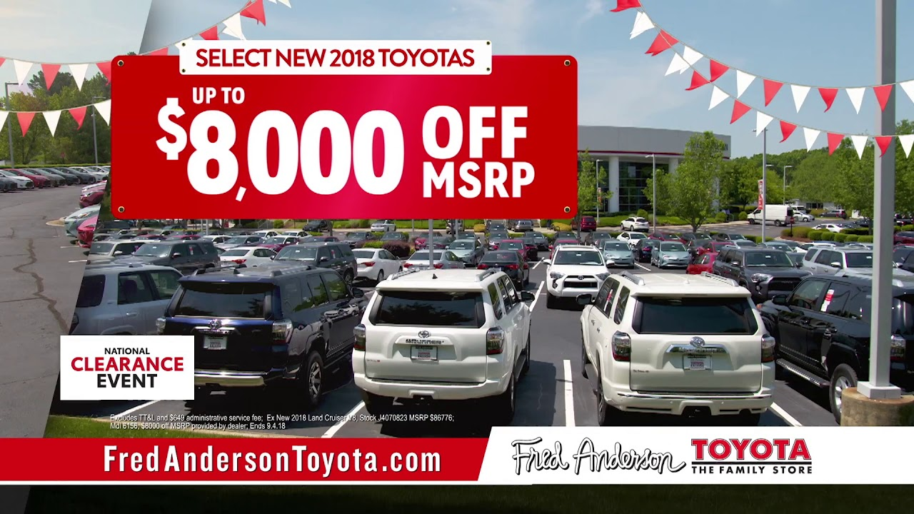 Exceptional Fred Anderson Toyota   National Clearance Event
