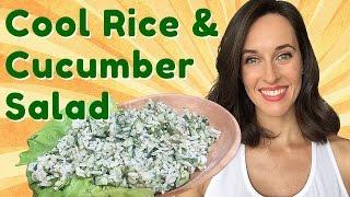 Rice & Cucumber Salad With Yogurt & Dill -cooking Demo -summer, Vegetarian Rice Pilaf