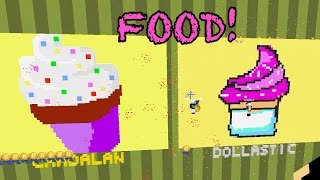 Minecraft / Delicious Food Pixel Painters Game / Dollastic Plays
