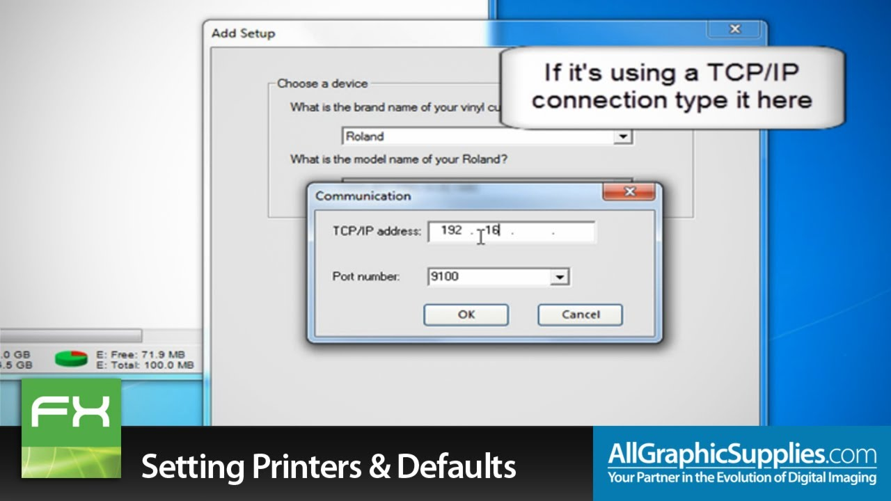 Setting Up Printers Amp Factory Defaults In Flexisign All