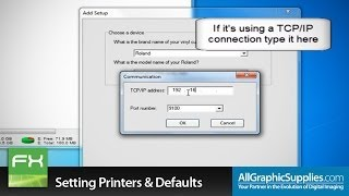 setting up printers factory defaults in flexisign all graphic supplies