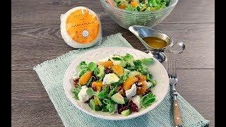 Салат с кавказским сыром, орехами и мандаринами