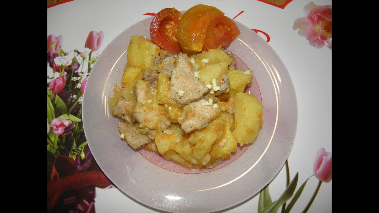 Как Быстро Приготовить Картофель с Мясом в Мультиварке. Второе Блюдо|Картошка с Мясом в Мультиварке Слоями