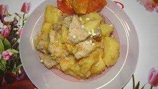 как быстро приготовить картофель с мясом в мультиварке.Второе блюдо