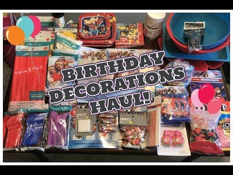 BIRTHDAY DECOR HAUL!   DC SUPER HERO GIRLS