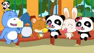 Baby Panda Shares Colored Candies &Lollipop   Magical Candy Machine    Love Sharing   BabyBus