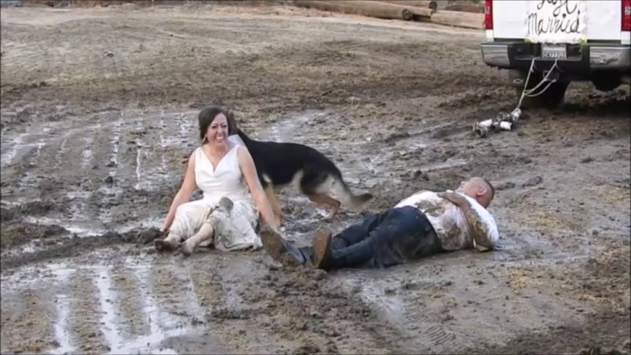 Mud Fight Wedding Dress