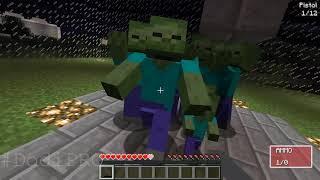 Minecraft Battle: NOOB vs PRO vs HACKER : GUNS CRAFTING in Minecraft MAP Animation!