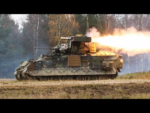 M2 BRADLEY FIGHTING VEHICLE IN ACTION • TOW MISSILES & M242 FIRING