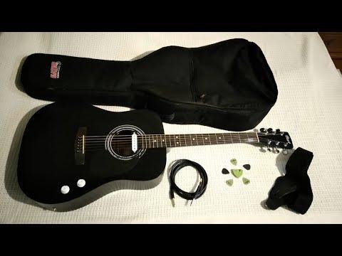 Акустическая гитара Cort AD810 + звукосниматель. Комбоусилитель Crate Flex Wave 15
