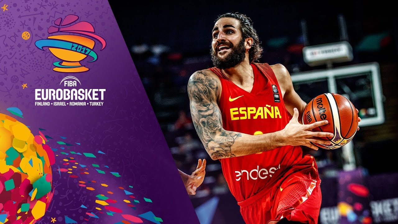 Ricky Rubio and Willy Hernangomez at the FIBA EuroBasket 2017