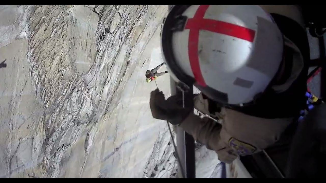 Man falls 50 feet while climbing in Yosemite National Park. CHP captures the rescue on video