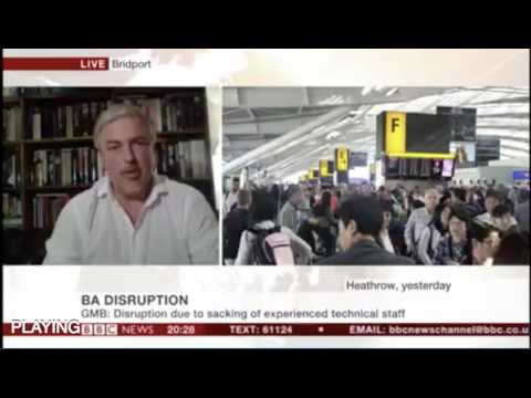 GMB National Officer for Aviation Mick Rix appears on BBC News to discuss British Airways
