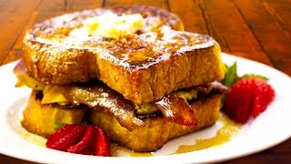 Ultimate French Toast Breakfast Sandwich Recipe - With Bacon Syrup! - Bbqguys.com