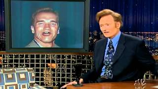 Late Night 'George Bush, Arnold, Michael via Satellite 4/15/05