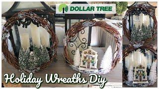 DOLLAR TREE DIY | $3.00 HOLIDAY WREATHS TUTORIAL