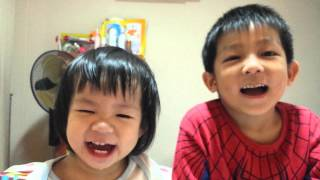 2 Sep 2014 - Kyle & Kyara blowing their nose! Thumbnail