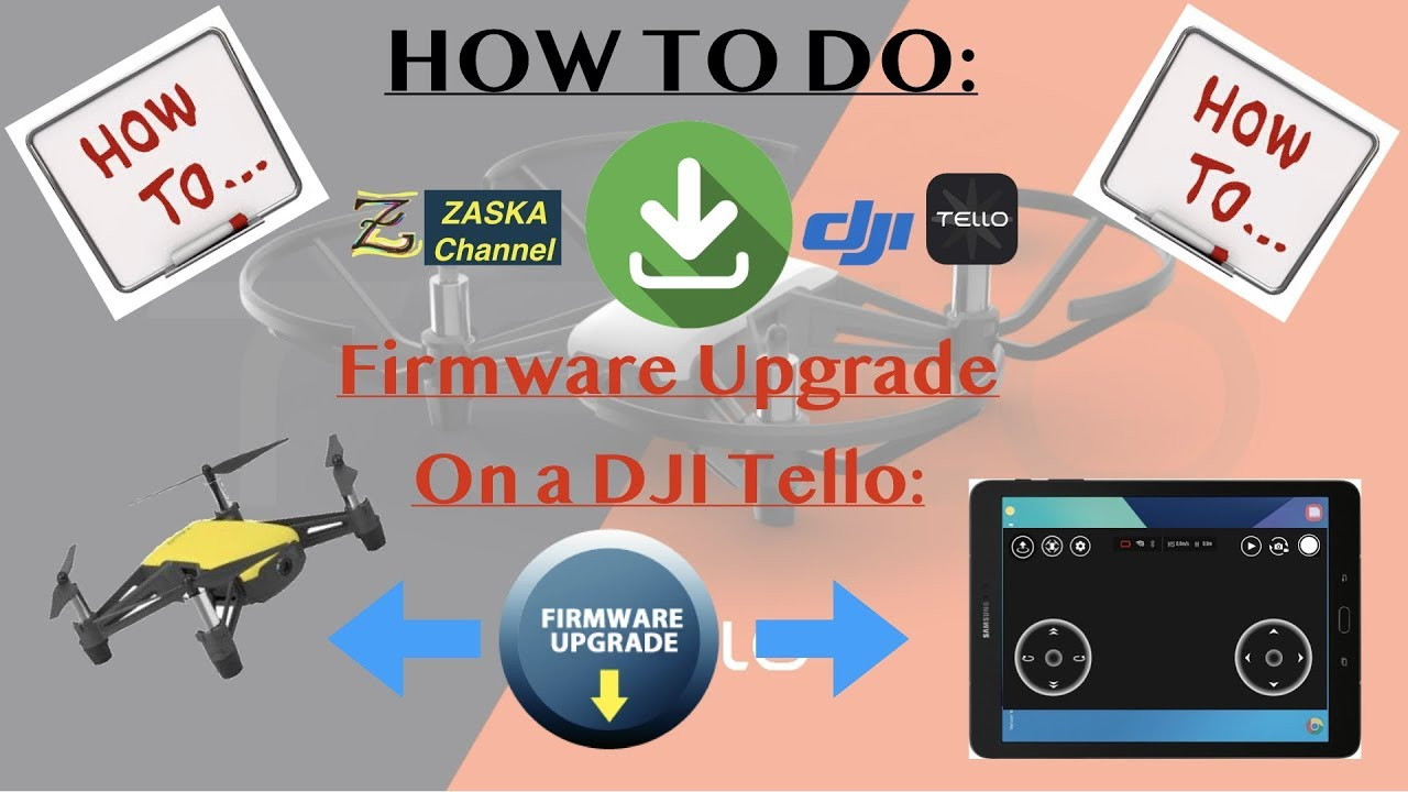 How to easily do: DJI Tello Firmware Upgrade / Software Update