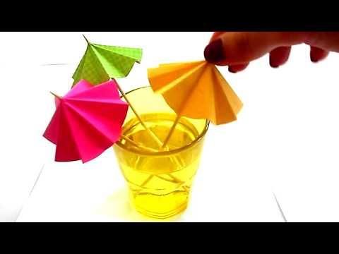DIY Cocktail umbrellas/ Kako napraviti kisobrane za koktele