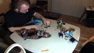 Lego 70810 Metalbeard's Sea Cow Construction Timelapse
