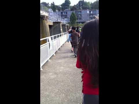Michelle and I checking out the Ballard Locks and Salmon Ladders
