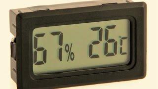 мини термометр, гигрометр, жк-экран, распаковка, обзор, посылка, Aliexpress