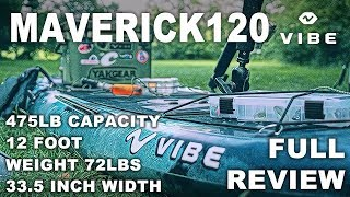 Vibe Kayaks Maverick 120 FULL Review - Flat Deck Versatility Kayak Fishing