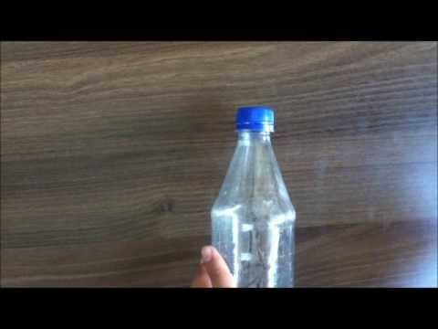 A homemade plastic funnel