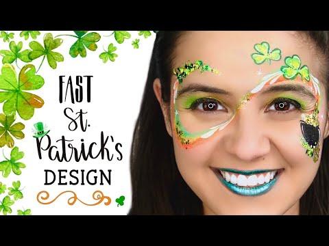 ONE STROKE Feelin' Lucky Face Paint Tutorial *ST. PATRICK'S DAY
